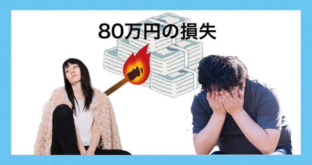 80万円の損失