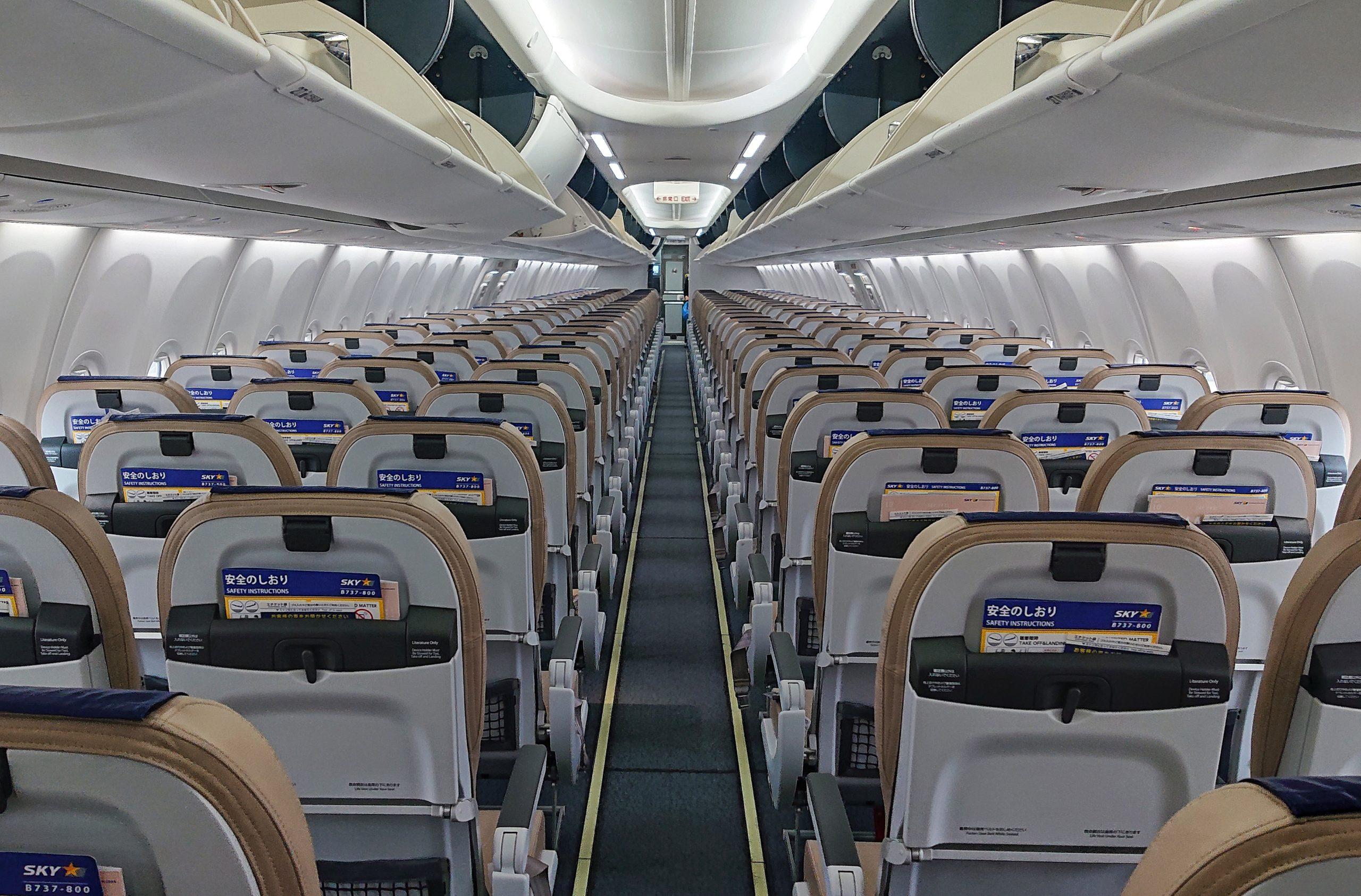 飛行機内の客室